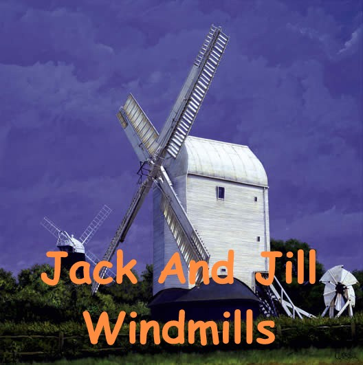 Jack and Jill Windmills print by Clive McBain