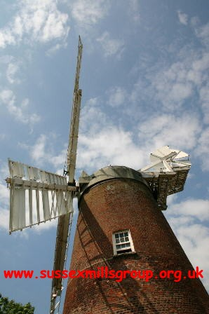Polegate Windmill, nestling in the South Downs and only a short distance from Polegate Town