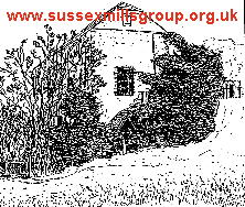 Polegate Watermill - drawing by Frank Gregory