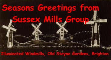 Seasons Greetings from Sussex Mills Group - Illuminated Windmills, Old Steyne Gardens, Brighton